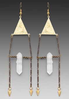 JEWELRY X REVOLVE MOON & SABLE Crystal Fragments Dusters Earrings in Gold