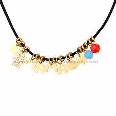 collar con letra mama de dorado en acero para mujer-SSNEG163002