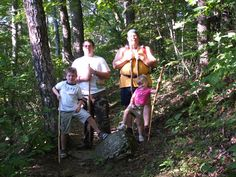 Wes, Faith, TJ and Poppa on the Appalachian Trail in 2009.