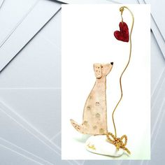 Adorable dog '' Love for ..all '' by TALITTA on Etsy