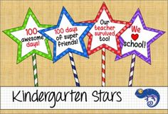 First Day of School, First 100 Days, 100 Days Brighter, We Love School and Last Day of School Stars. These printable stars can be used as photo props or classroom decorations.There are five PDFs each using two stars per page. An editable PowerPoint file is included to write your own quotes if you like.Each star measure 5.8 inches by 5.8 inches.PDF 1 - 100 Days Brighter stars (12 pages)PDF 2 - We Love (heart) School stars (12 pages)PDF 3 - First Day of School stars (12 pages)PDF 4 - Last Day…