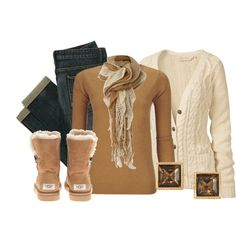 Caramel Cashmere by qtpiekelso on Polyvore featuring Fat Face, Crumpet, UGG Australia and Linea