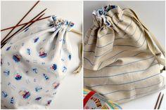 DIY: Bolsa de tela reversible para llevar proyectos de punto