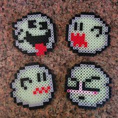 Boo Super Mario perler beads by ThePixelPerler