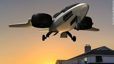 This artist rendering of a TriFan 600 envisions it hovering near a house.