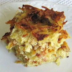 This easy Lithuanian kugelis recipe is speeded up because it's made with frozen hash brown potatoes.