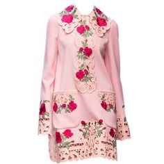 satinee.polyvore.com - Dolce&Gabbana FW 2015/16 ❤ liked on Polyvore featuring dresses, d&g, pink dress, pink day dress, women dresses, dolce&gabbana and dolce gabbana dresses