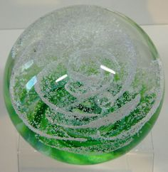 Selkirk Glass Ice Petal Paperweight Ltd Ed. Boxed Cert. 1986 PH Cane