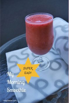 I love smoothies. But when I try to find smoothie recipes online, they always seem so complicated, and I want something simple. Here's an easy, quick and delicious smoothie recipe. Yummy Smoothie Recipes, Paleo Recipes, Super Easy, Alcoholic Drinks, Simple, Breakfast, Tableware, Whole30, Mixer