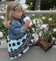 Ruched Ruffle Circle Skirt PDF sewing pattern girl kid toddler child easy sew sizes 2T-10.