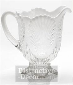 Mosser Glass Shell Pitcher - Crystal Opal