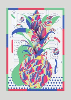 Alain Vonck - tropical fun #graphic #surfacedesign