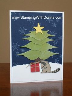 Stampin' Up!  Bird Punch  Donna Schafer  Christmas Tree