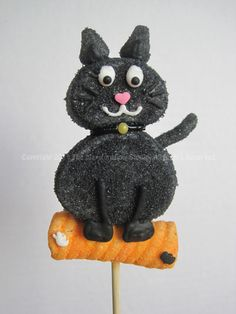 Black Cat #marshmallow #pops #halloween