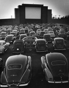 I love going to the drive-in. I wish I had a nice classic convertible to drive to make the experience even more fun.