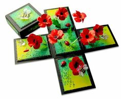 my poppy cottage magic box Card In A Box, Pop Up Box Cards, Diy Exploding Box, Scrapbooking, Magic Box, Shaped Cards, Altered Boxes, Card Tutorials, Diy Box