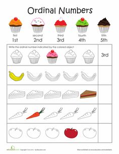 166 best Ordinal Numbers Activities images on Pinterest in 2018 ...