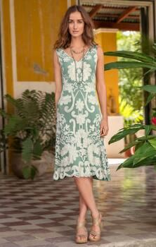 Fall in love with the elegant soul of our romantic rayon dress.