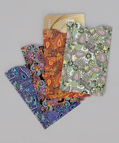 Take a look at the Paisley Armored RFID Credit Card Sleeve Set on #zulily today! (4 for only $6.99)