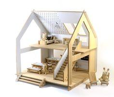 Tamido.pl   DOMEK PIERWSZY highline1500 zł Cardboard Box Houses, Cardboard Toys, Toy House, Wooden Dollhouse, Wood Toys, Baby Room, Designer, Toddler Bed, Studio