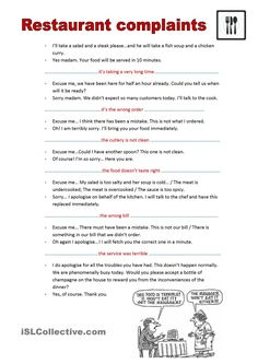 Restaurant complaints | English | English jokes, English