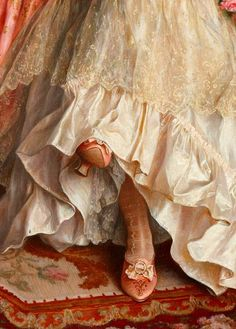 Ausschnitt aus The Proposition von Arturo Ricci - wallpaper - History Renaissance Paintings, Renaissance Art, Aesthetic Painting, Aesthetic Art, Mode Rococo, Princess Aesthetic, Victorian Art, Victorian Bedroom, Classical Art