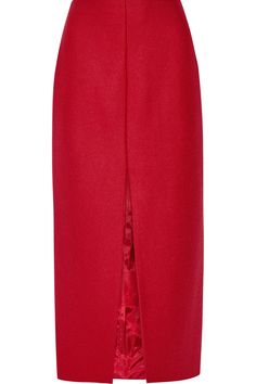 Carven Wool-blend Midi Skirt In Red Larsson And Jennings Watch, Casual Attire, Fall Skirts, Carven, Aquazzura, A Line Skirts, Victoria Beckham, Wool Blend, Midi Skirt