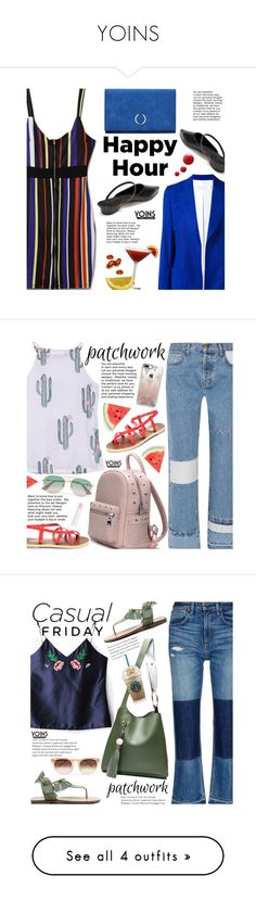 """""""YOINS"""" by beebeely-look ❤ liked on Polyvore featuring Victoria Beckham, Topshop, WorkWear, stripes, happyhour, yoinscollection, Current/Elliott, Casetify, Gucci and Barry M"""