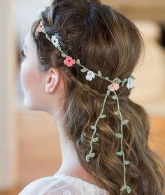 Elegant Floral Headband Free Crochet Pattern from Aunt Lydia's Crochet Thread