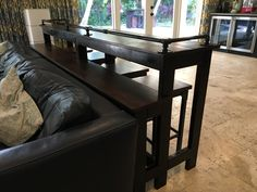 Table Behind Couch, Dining Bench, Projects, Furniture, Home Decor, Log Projects, Blue Prints, Decoration Home, Table Bench
