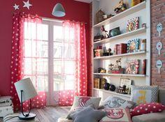 #decoration #chambre #enfants #castorama #rouge #fille