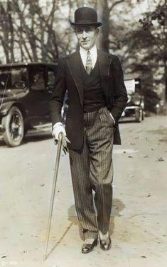 Male fashion - Jean Patou, 1924.