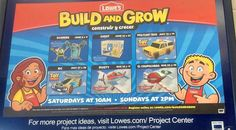 Free Lowes To Build Clinics Disney Planes in August!  My kids love doing these clinics!