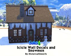 Sims 4 CC's - The Best: Icicle Wall Decals and Snowmen by HistoricalSimsLi...