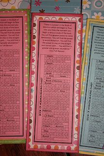 book of mormon reading chart bookmark