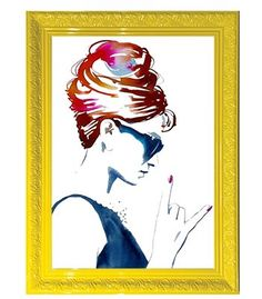 Quadro Audrey Hepburn rock n roll | Arte Moderna Retrô!