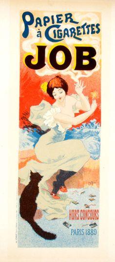 "GeorgesMeunier,""Papier a Cigarettes Job"", Paris, 1889via"