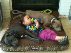 Safe and sound with her two best friends!
