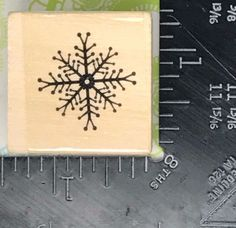 Christmas Rubber Stamp HOLIDAY SNOWFLAKE Snow Ice Winter Y40 #Unbranded