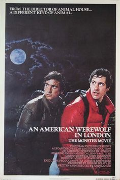 AMERICAN WEREWOLF IN LONDON, AN Movie Poster (1981) || HORROR Movie Posters   @ FilmPosters.Com - Vintage Movie Posters and More