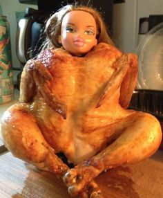 Fucking hell, my dad was carving the chicken for dinner and all of a sudden i just hear him manically giggling to himself so i fucking go into the kitchen and this is what i fucking find  Jesus christ, dad what the fuck