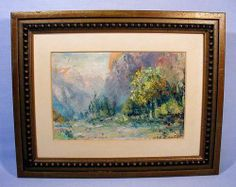 Orr Fisher Oil Painting Mountains Meadow A California Yosemite Scene | eBay