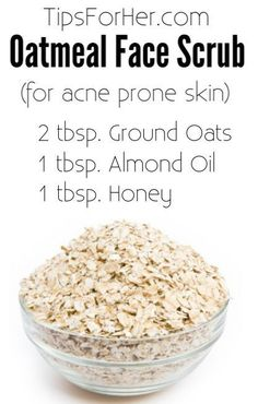 DIY Oatmeal Face Scrub for removing dead skin cells and helping to clear up acne. DIY Oatmeal Face Scrub for removing dead skin cells and helping to clear up acne. Diy Face Scrub, Face Scrub Homemade, Diy Scrub, Homemade Skin Care, Diy Skin Care, Skin Care Tips, Homemade Facials, Skin Tips, Baking Soda For Hair