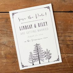 Rustic Save the Date Save the Date postcard  The by starboardpress