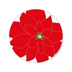 Pointsettia Sticker