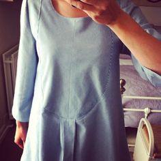 Merchant and mills dress shirt in thin blue stripe