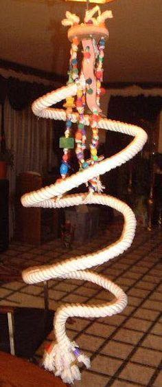 DIY Spiral Rope Perch - PetDIYs.com