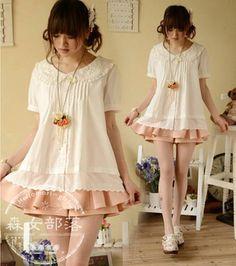2015 Summer White Women Short Sleeve Turn Down Collar Crochet Floral Cotton  Plaids Ladies Fashion Casual Tops Slim Blouse Shirt 4c658a28510