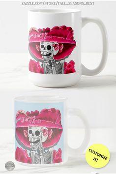 * Dia De Los Muertos * La Calavera Catrina * Laughing Skeleton Woman in Red Bonnet Coffee Mug by Fall_Seasons_Best at Zazzle #Gravityx9 * Mugs are available in several sizes and styles, ready for you to customize! * Dia De Los Muertos coffee mug * day of the dead mug * calavera mug * sugar skulls mug * #catrina #coffeemug #calaveramug #sugarskullmug #dayofthedead #catrina #lacalavera #sugarskull #lacalaveracatrina #diadelosmuerto #calavera 0920