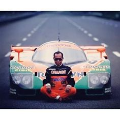 Two ‪#‎Mazda‬ legends: Yoshimi Katayama + ‪#‎787B‬ / Via @japanesenostalgiccar…